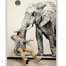 Drawn 3d Art Elephant 1