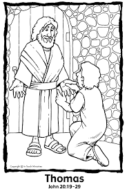 Wk 25 Coloring Page Thomas Sees Jesus