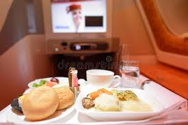 Emirates Airbus A380 Business Class Interior Editorial Image