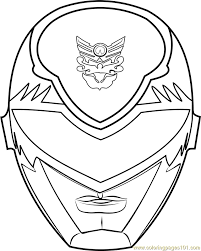 Power Ranger Mask Coloring Page