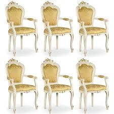 casa padrino barock esszimmer stuhl set gold weiß gold 50 x