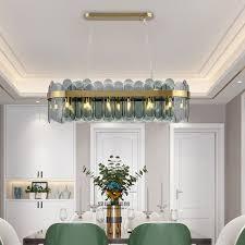 minimalist led glass pendant light unique color rectangle