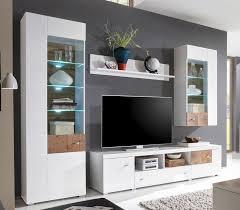 forest 2 wohnwand anbwauwand wohnzimmer set wohnkombination weiß hochglanz günstig möbel küchen büromöbel kaufen froschkönig24
