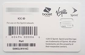 Amazon Sprint Boost Virgin Mobile iPhone 5s & 5c Nano SIM
