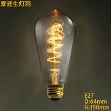 curve st64 vintage edison bulbs e27 incandescent filament