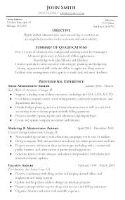 Resume Samples For Executive Assistant To Ceo Example Sample