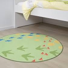 jättelik teppich flach gewebt dinosaurierspur grün 100 cm