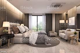 3d rendering modernen loft luxussuite mit schlafzimmer sofa in der nähe spiegel stockfoto und mehr bilder architektur