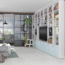 raumteiler regal nach maß im wohnzimmer