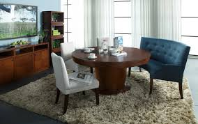 Dinning Room Chic Dining Rugs With Round Table Closed Interesting Chair On Fur Rug
