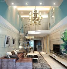 simple ceiling decoration with lighting for sweet living room