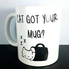 Cute Coffee Mug Cat Kitty White Funny