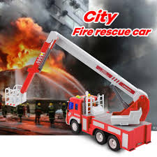 100 Fire Truck Sirens Ultimate Rush Rescue With Rotate Ladder Bucket Lights