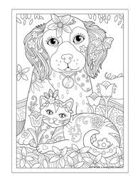Dog Cat And Butterfly Pampered Pets Adult Coloring Book By Marjorie Sarnat Davlin Publishing