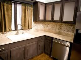 Kitchen Backsplash Ideas With Dark Oak Cabinets by Coloring Kitchen Cabinets Black In A Small Kitchen Roselawnlutheran
