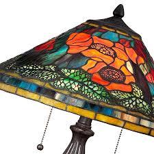 Quoizel Tiffany Lamp Shades by Poppy Flower Tiffany Lamp