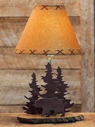 Adirondack Lamp Shades Bear Rustic Metal 0