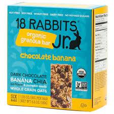 Can Bunny Rabbits Eat Pumpkin Seeds by 18 Rabbits Jr Organic Gluten Free Granola Bar Chocolate Banana
