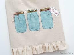 Mason Jar Dish Towel Pattern