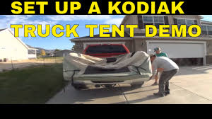 100 Kodiak Truck Tent Canvas Demo And Setup YouTube