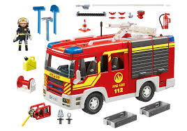 Fire Engine With Lights And Sound - 5363 - PLAYMOBIL® United Kingdom Bruder Toys Scania Rseries Fire Engine Truck With Working Water Amazoncom Velocity Super Rescue 24 Hour Remote Control Mack Granite Ladder Pump And Dickie Light Sound Sos Vehicle Fast Lane Rc Fighter Toysrus Best Of L Fire Trucks Refighters Ladder Big Rc With 02770 Man Crane Action Wheels Shop Your Way Online Mb Sprinter English Brigade Big Size Full Functions