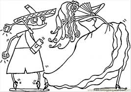 Extraordinary Inspiration Spain Coloring Page Spanish Couple Of Dancers Free Pages ColoringPages101com