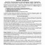Distribution Manager Resume Operations Sample Cv Warehouse