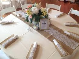 Burlap Runner Round Table Google Search And Lace Wedding Settings