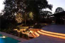 Outdoor Poolside Steps With Rope Lighting Ways To Installing