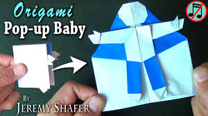 Origami Baby Pop Up Card No Music