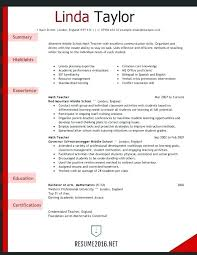 Teacher Resume Template Word Teaching Objective Education Format Info Microsoft Download