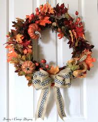 Mackenzie Childs Painted Pumpkins by Peonies And Orange Blossoms Diy Fall Wreath Tutorial