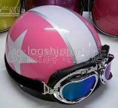 Scooter Half Vespa Motorbicycle Casco Casque Helm Face Cycling Pink Helmet