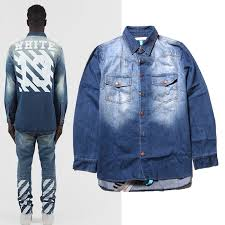 Fashion Brand Casual Men Urban Clothing Mens Designer Clothes Button Down Shirts For Off White Virgil Pyrex Denim Shirt In From