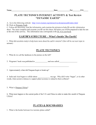 Sea Floor Spreading Model Worksheet Answers by Plate Tectonics Internet Activity