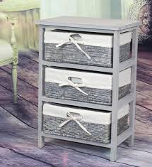 3 Drawer Wicker Chest Walmart by Vintiquewise Wooden Storage Cabinet 3 Drawer Accent Chest