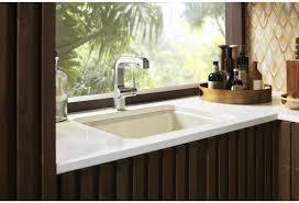 Kohler Sink Rack Biscuit by Faucet Com K 5872 5ua1 47 In Almond By Kohler
