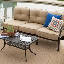 Cast Aluminum Patio Furniture With Sunbrella Cushions by Belham Living Palazetto Cast Aluminum Outdoor Sofa Set With