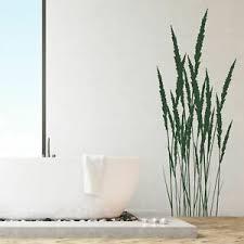 details zu wandtattoo wandsticker wandaufkleber flur badezimmer gras gräser wt121