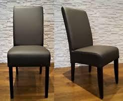 details zu dunkelbraun echtleder stühle esszimmer stuhl lederstühle echt leder lehnstuhl