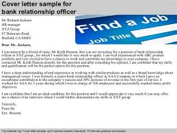 Cover Letter Samples Bank Relationship Manager