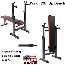 Details About Adjustable Foldable Weight Bench Gym Workout Home Fitness Exercise Lifting Press