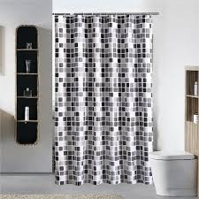 schwarz weiss grau plaid badewanne badezimmer stoff