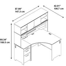 Black Corner Computer Desk With Hutch by Bush Envoy Corner Computer Desk With Hutch In Hansen Cherry Env005hc