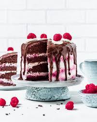 kalorienarme schoko himbeer sahne torte