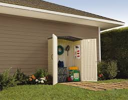 Suncast Outdoor Vertical Storage Shed by Amazon Com Rubbermaid Plastic Small Outdoor Storage Shed 53