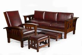 Stickley Furniture Leather Recliner by Mission Style Sofa Dining Room Resolution Mission Furniture