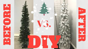 Christmas Tree Flocking Spray Can by Diy Flocked Snow Christmas Tree How To Save Money Youtube