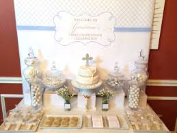 Baptism Decoration Ideas Pinterest by First Communion Sweet Table First Communion Pinterest