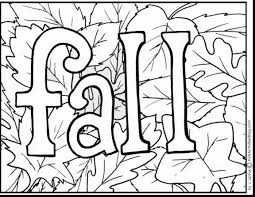 Good Printable Fall Coloring Pages With Color And For Toddlers